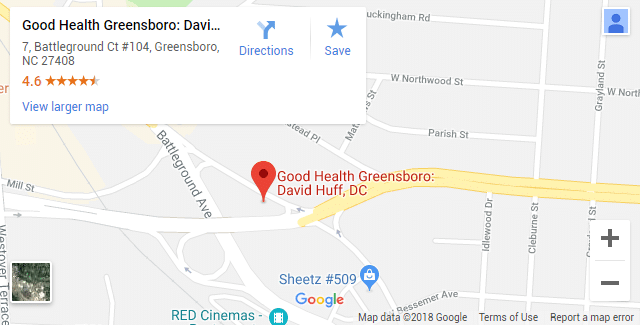Chiropractic Map Greensboro NC